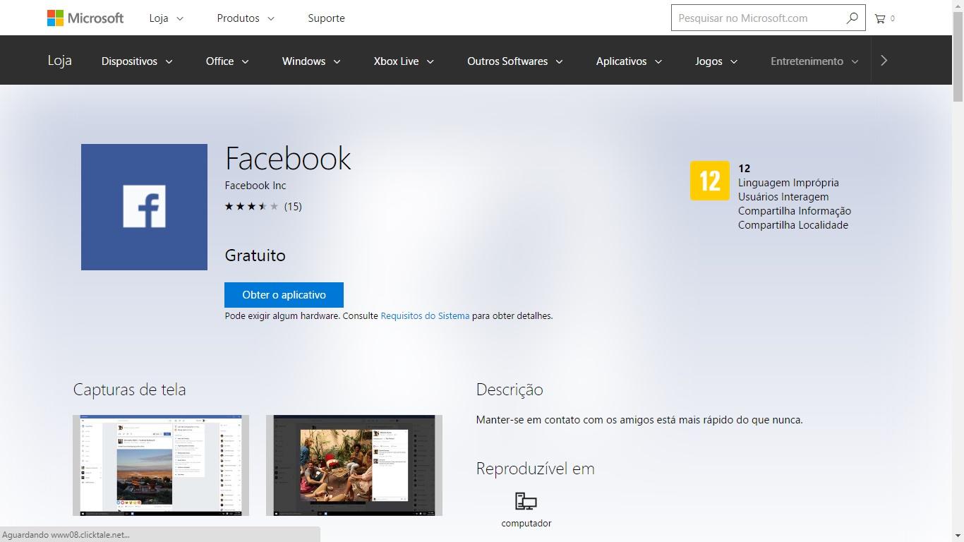 Microsoft altera o design da versão Web da Windows Store