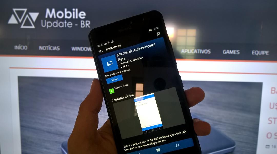 Baixe agora Microsoft Autenticador para Windows 10 Mobile