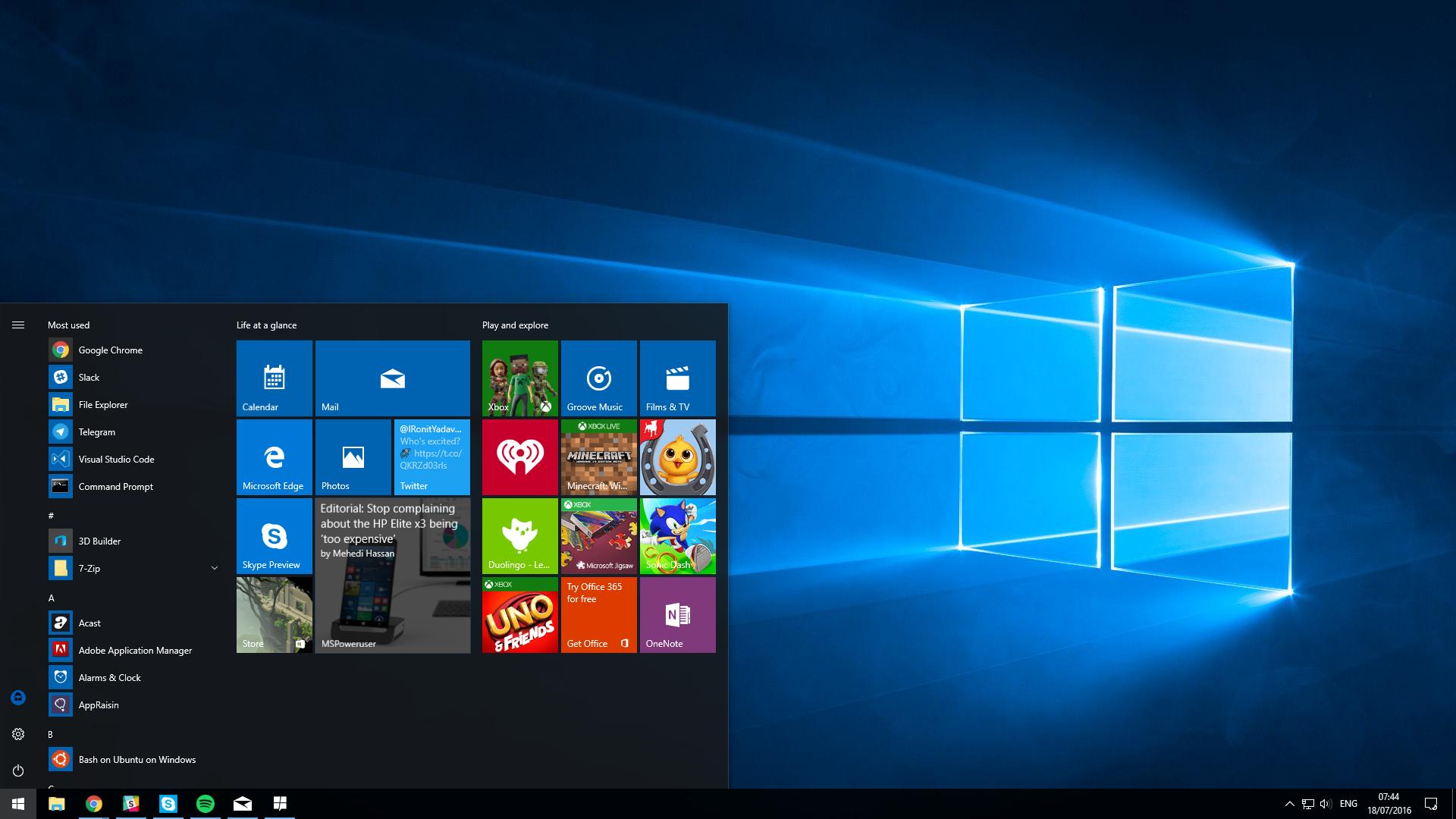 Microsoft planeja terminar implantação do Windows 10 Update de Aniversário no início de Novembro