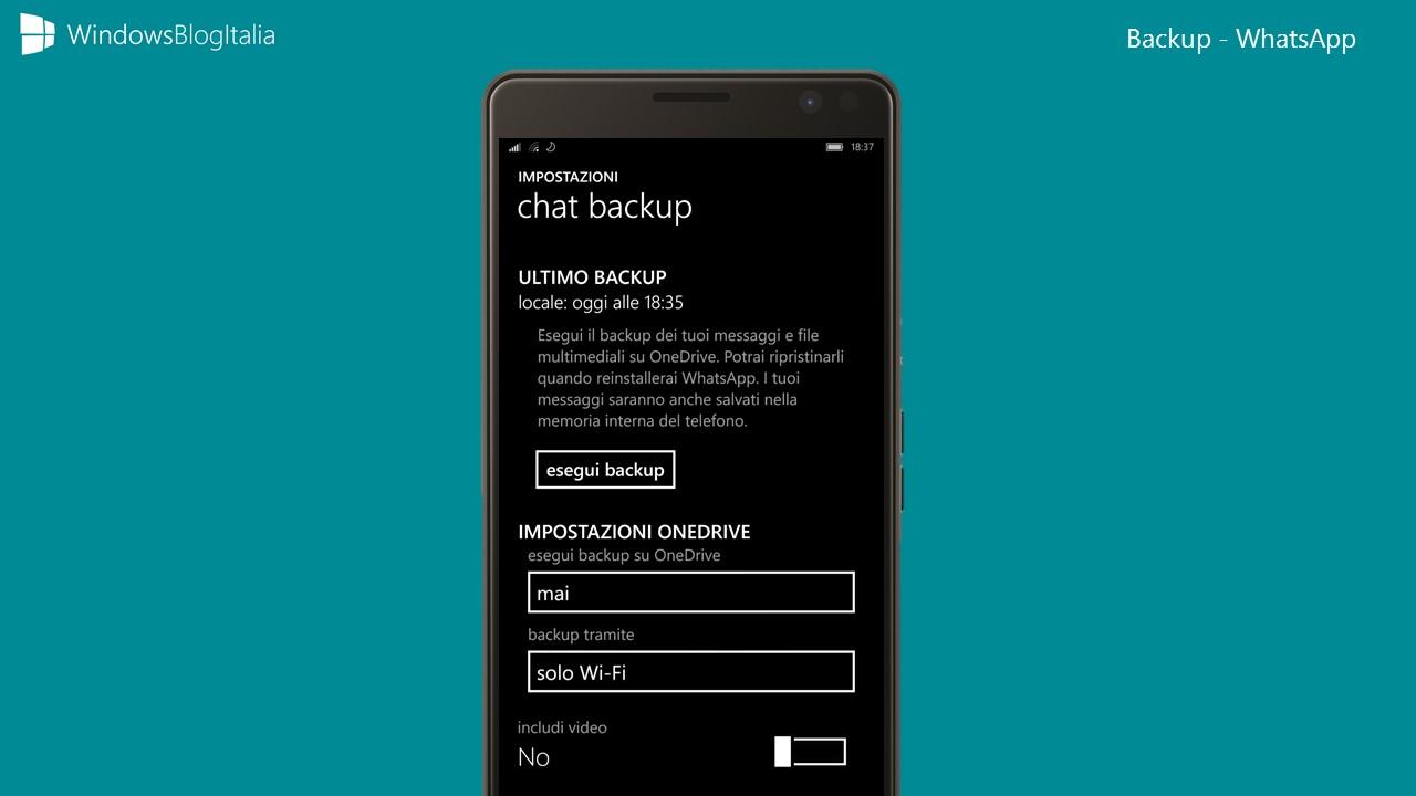 WhatsApp parece finalmente, está voltando-se ao OneDrive