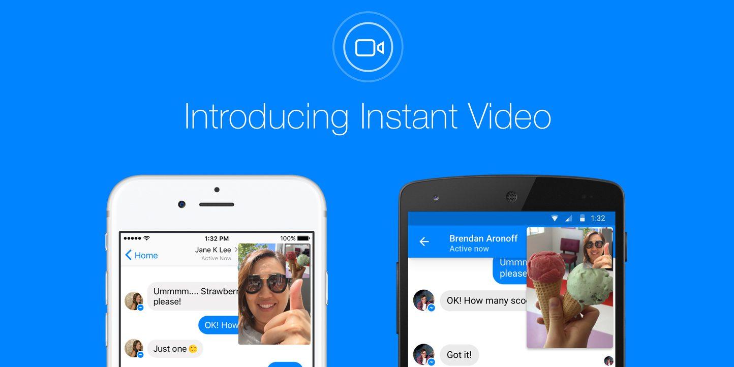 Facebook Adiciona Instant Vídeo ao Messenger em suas aplicações para Android e iOS, mas cadê o Windows 10 Mobile?