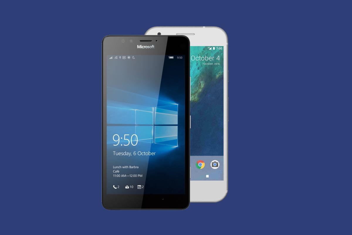 Comparação: Microsoft Lumia 950 vs Google Pixel