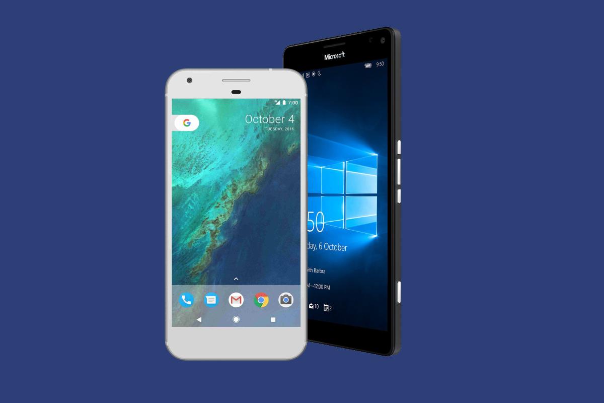 Comparação: Microsoft Lumia 950 XL vs Google Pixel XL