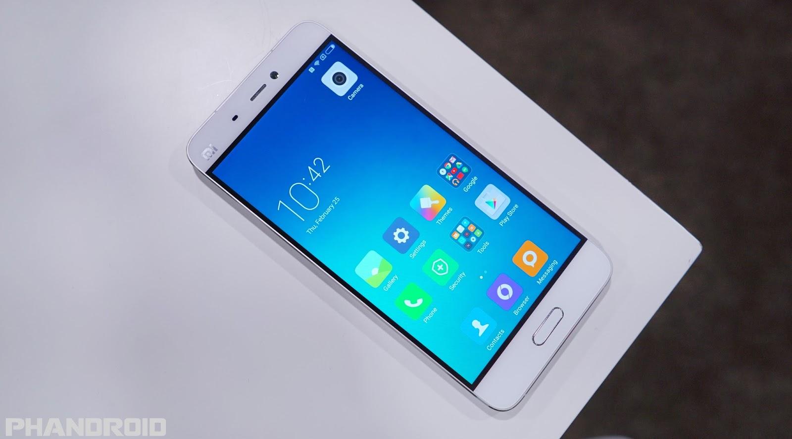 Xaomi Mi 5 já começa a receber a MIUI 8 com Android Nougat