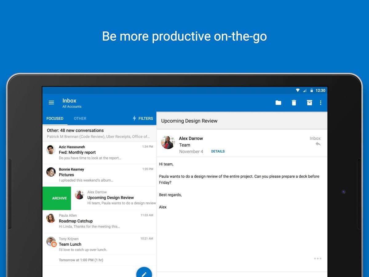 Android: Outlook é atualizado na plataforma