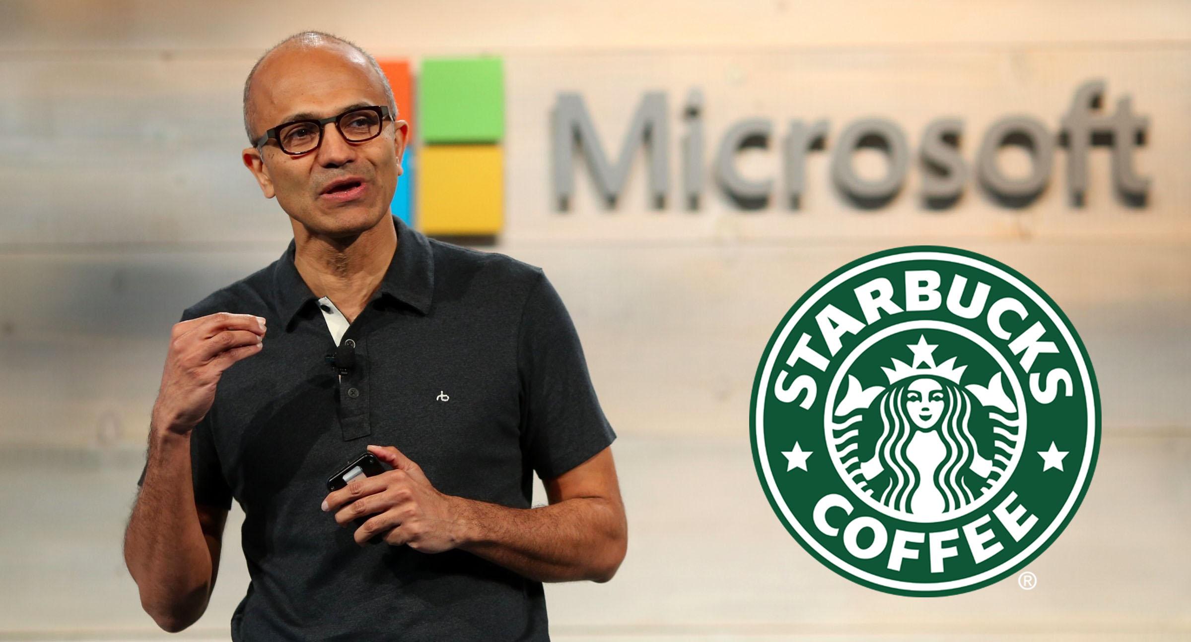 CEO da Microsoft entra para a Starbucks