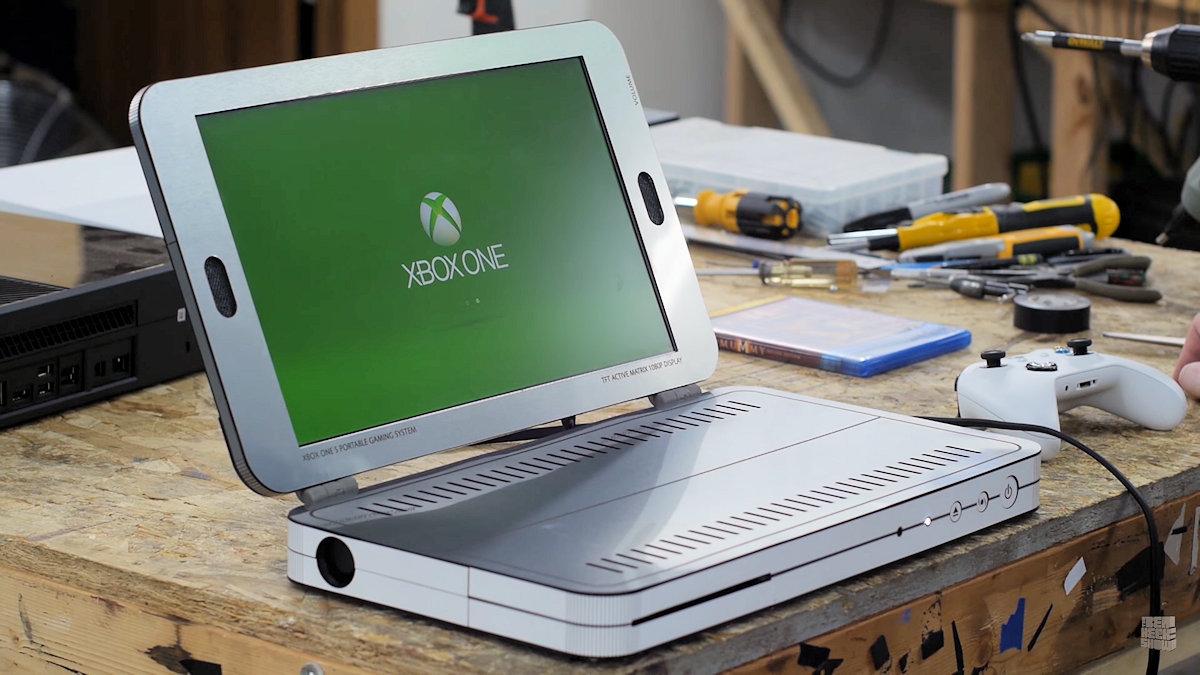 Um americano resolveu transforma seu Xbox One S em um laptop, veja o resultado e aprenda a fazer: