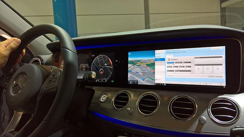 Polícia da Alemanha está utilizando o Modo Continuum do Windows 10 Mobile em seus Mercedes E-Class
