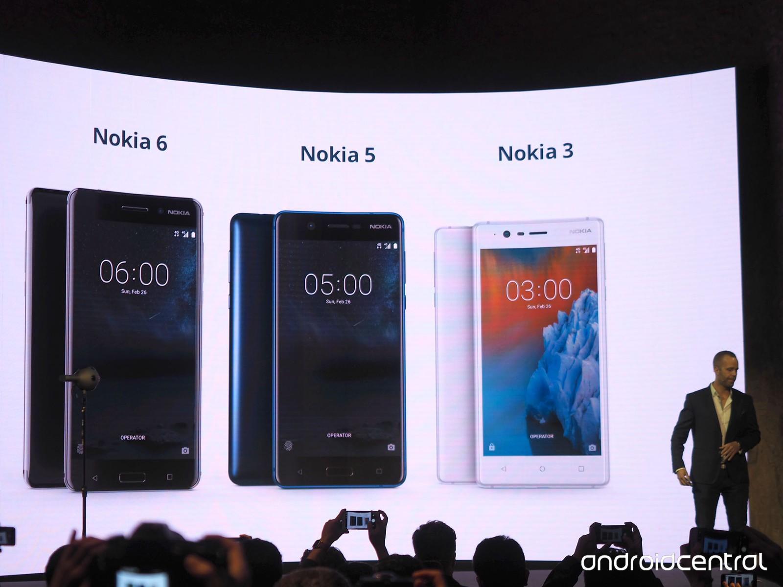 Novos smartphones Nokia 3, Nokia 5 e Nokia 6 apresentados e a volta do Nokia 'tijolão' na MWC 2017
