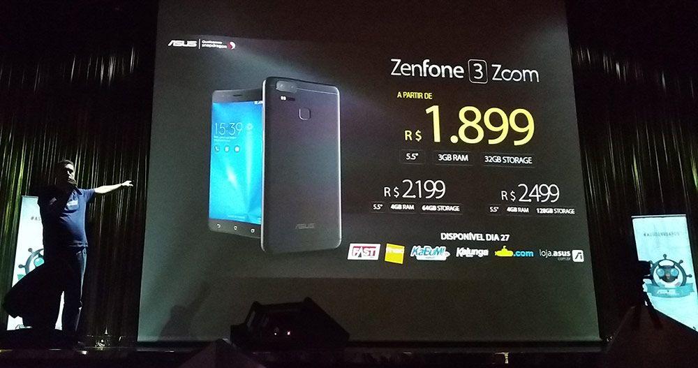 Preços oficiais revelados do novo Asus Zenfone 3 Zoom no Brasil