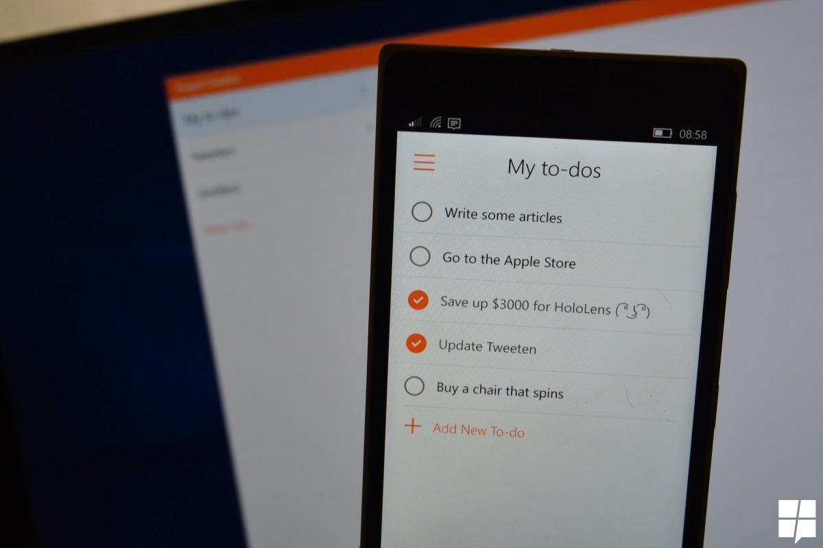 O aplicativo Lista de tarefas pendentes da Microsoft agora está disponível para dispositivos Android, iOS e Windows 10