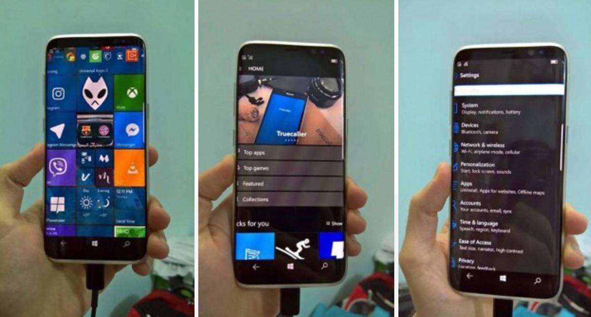 Não! Não temos uma S8 com Windows 10 Mobile!