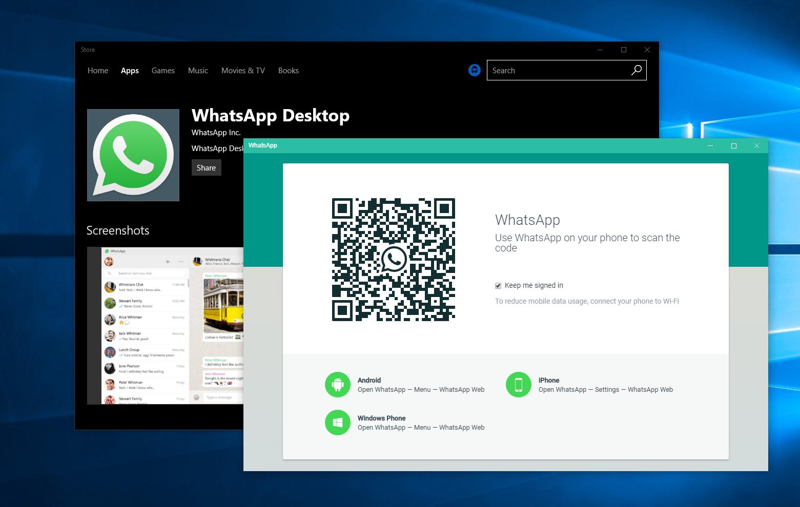 Depois de Apple e Spotify, WhatsApp também está trabalhando para trazer seu aplicativo para a loja do Windows 10