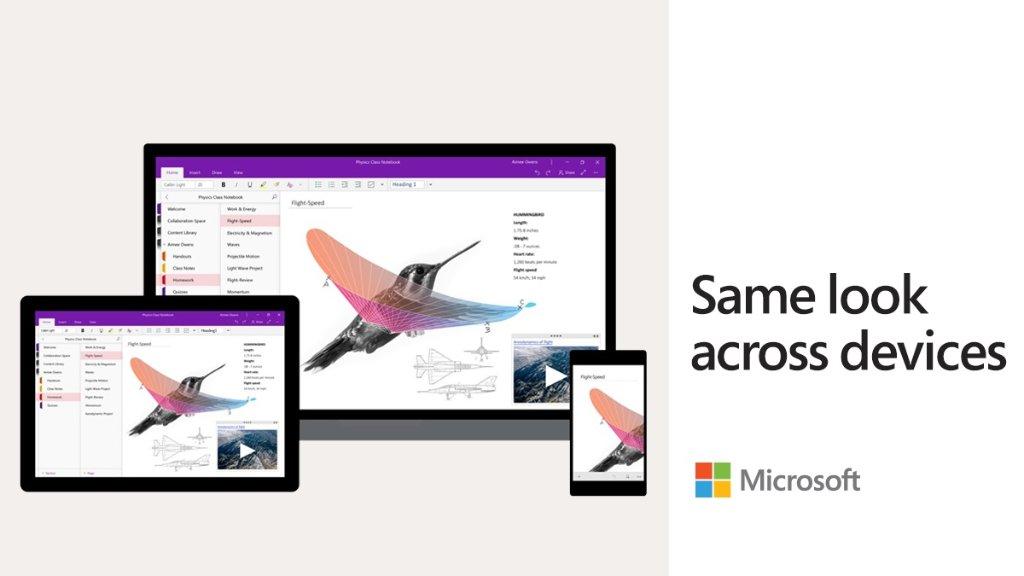 Novo design do OneNote está chegando para todos com Windows 10!
