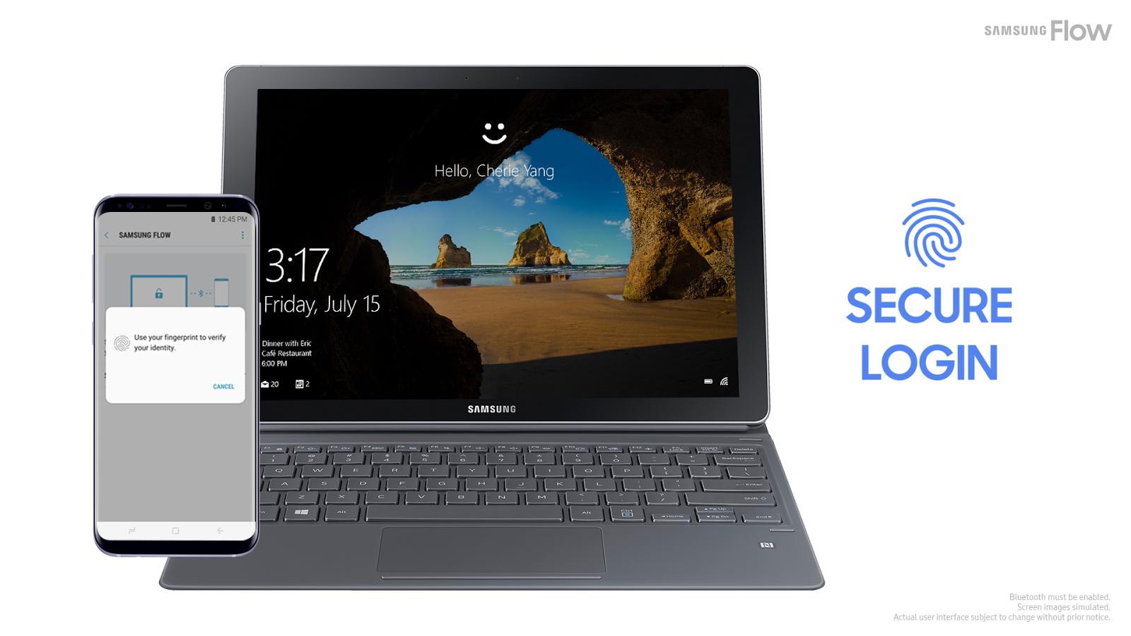 Em breve você poderá desbloquear qualquer PC com Windows 10 um Samsung Galaxy