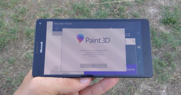 Paint 3D Preview aparece no Windows 10 Mobile