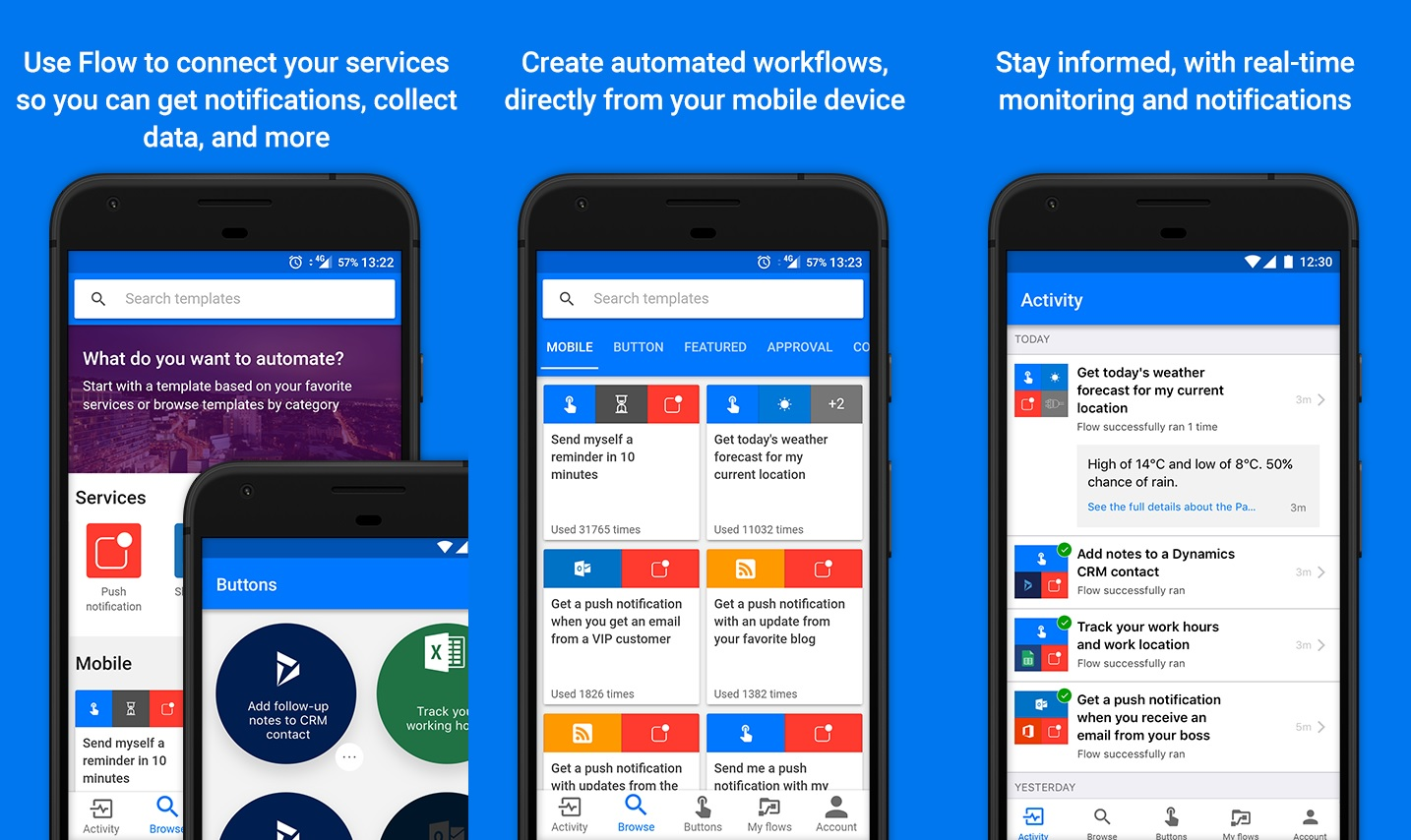 Microsoft Flow para Android atualizado com algumas melhorias