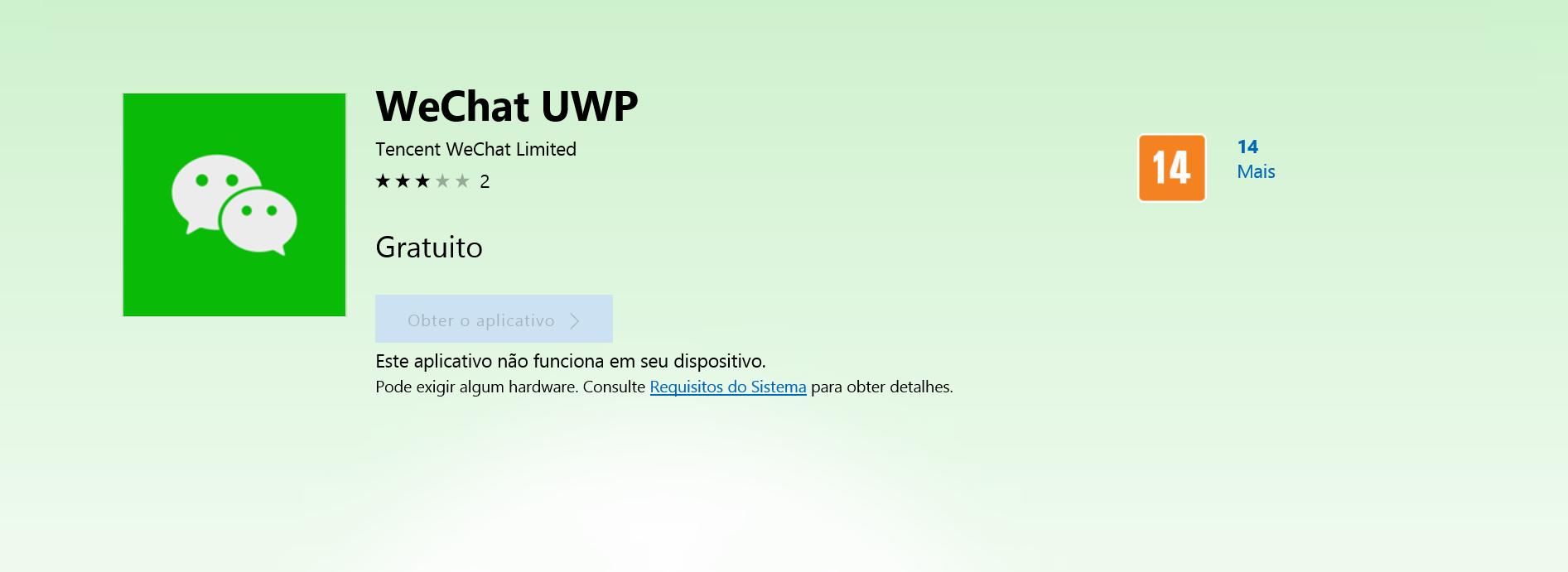 We Chat apresenta o We Chat UWP