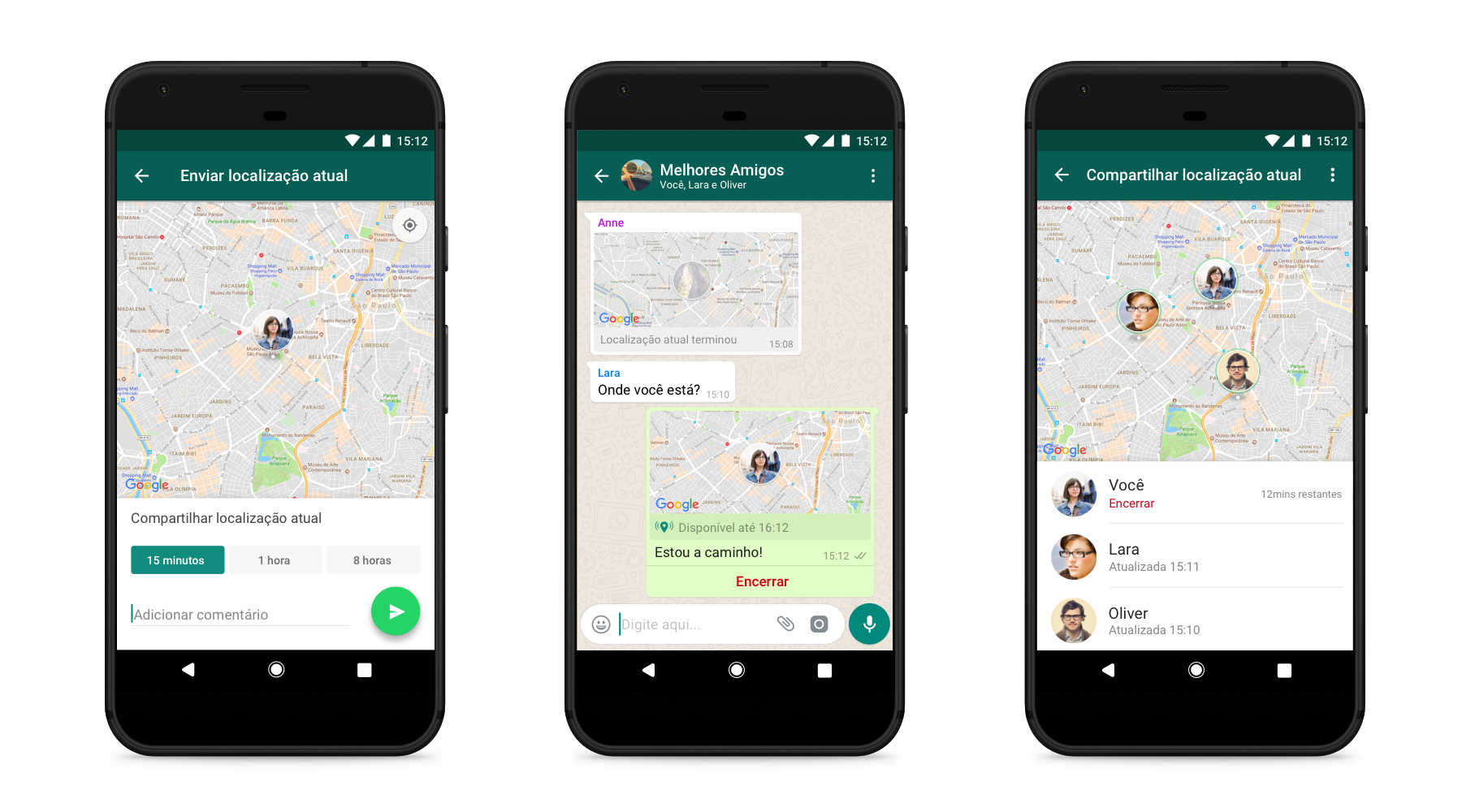 Localização em tempo real no Whatsapp chega para o Android e IOS