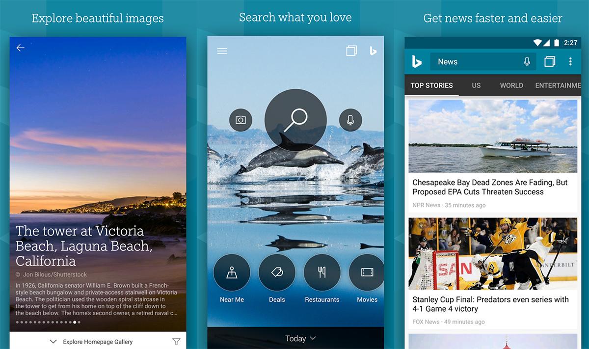 Bing para Android é atualizado com feed de notícias personalizado, histórico de pesquisa melhorado e mais…