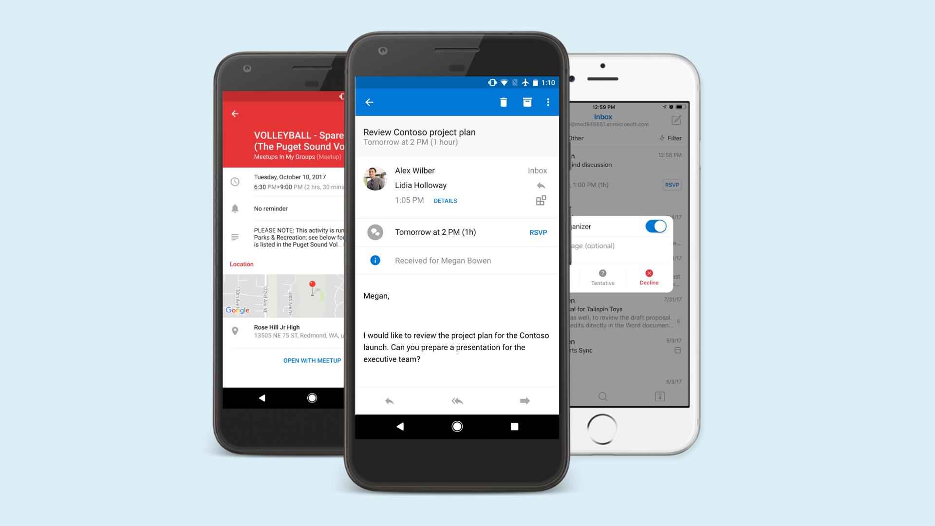 Melhorias no Email e calendário do Outlook para IOS