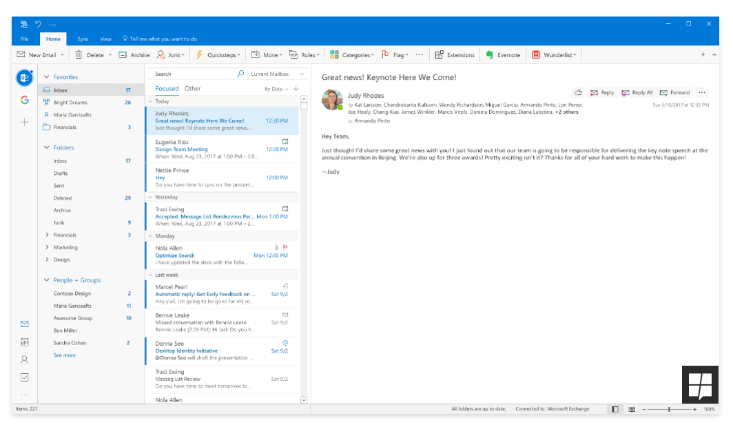 Microsoft esta redesenhando o app Outlook no Desktop