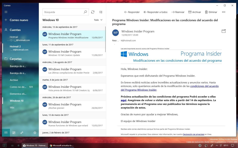 Calendário e Email do Outlook ganham um toque de Fluent Design