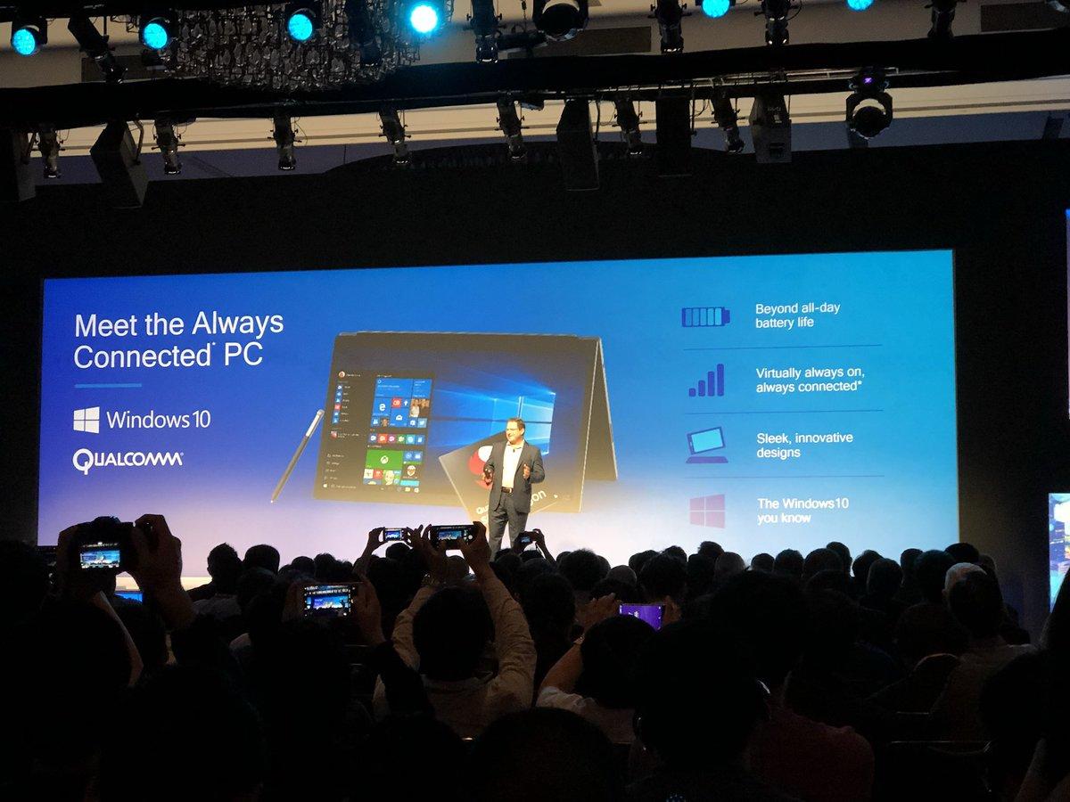 Dispositivos com Windows 10 ARM esperam ter uma duração de bateria extraordinária