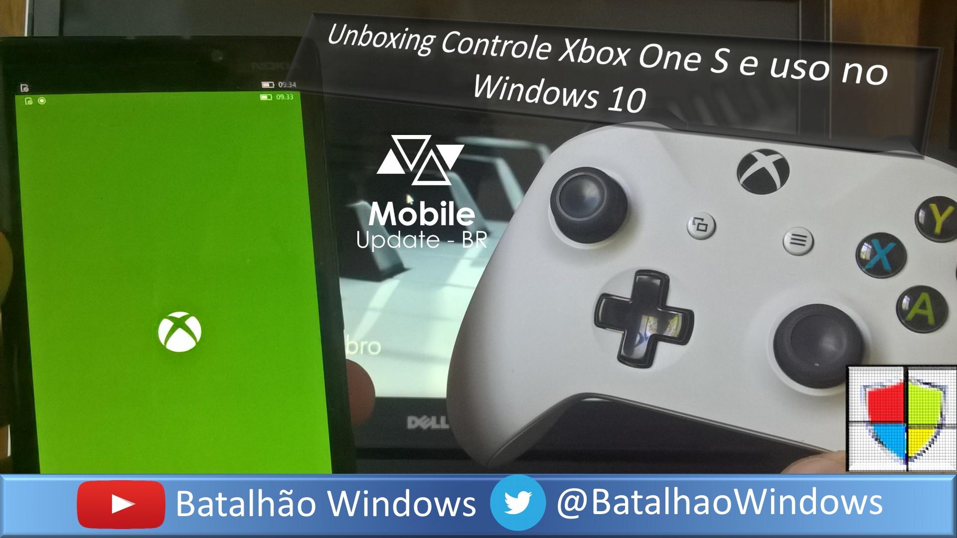 Xbox One S: Unboxing Controle e uso no Windows 10