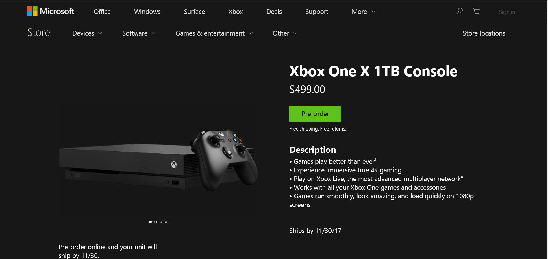 Pré venda: Xbox One X aparece por R$3.999 com entrega no Brasil inteiro!