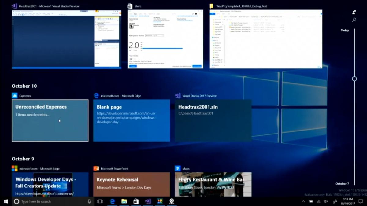 Timeline: O recurso esta chegando aos Windows Insiders Fast