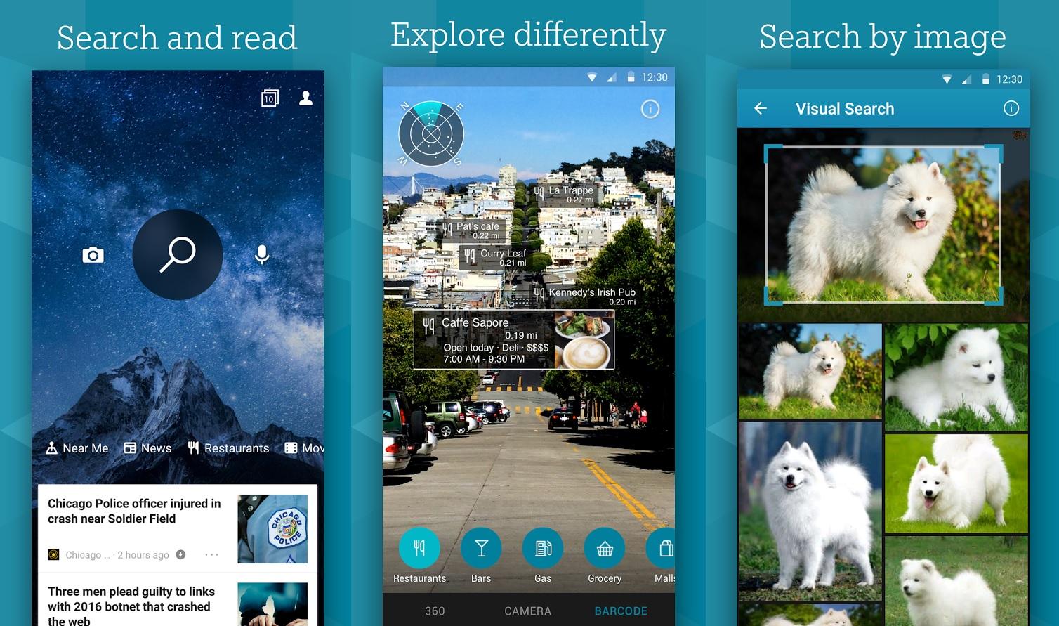 Bing: Atualizado com melhoria no mapa e respostas baseadas na localização no Android