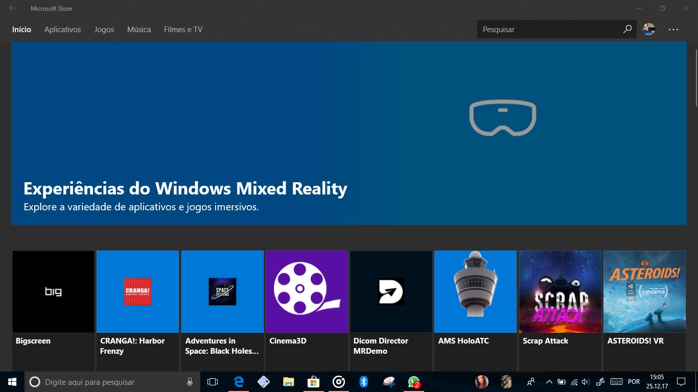 Experiencias do Windows Mixed Reality: Nova Sessão dedicada na Microsoft Store