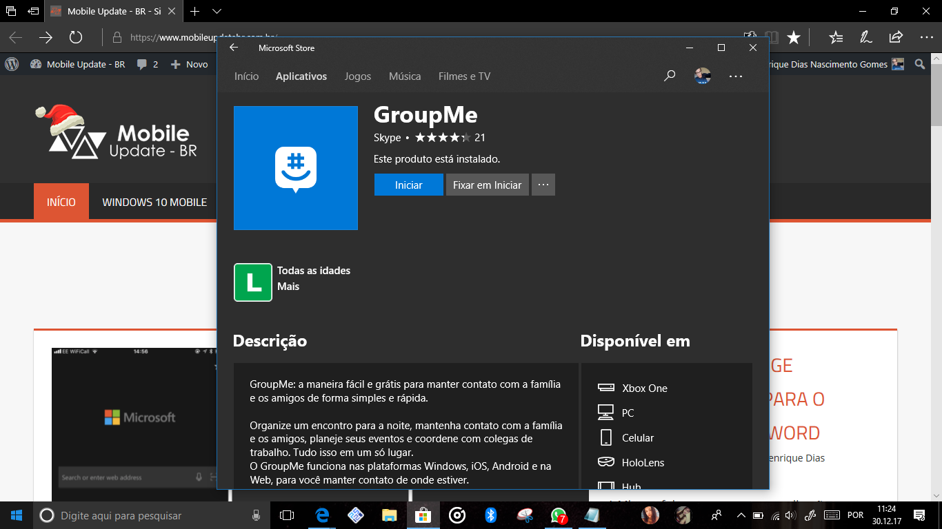 Xbox One Group Me Disponivel No Console Mobile Update Br