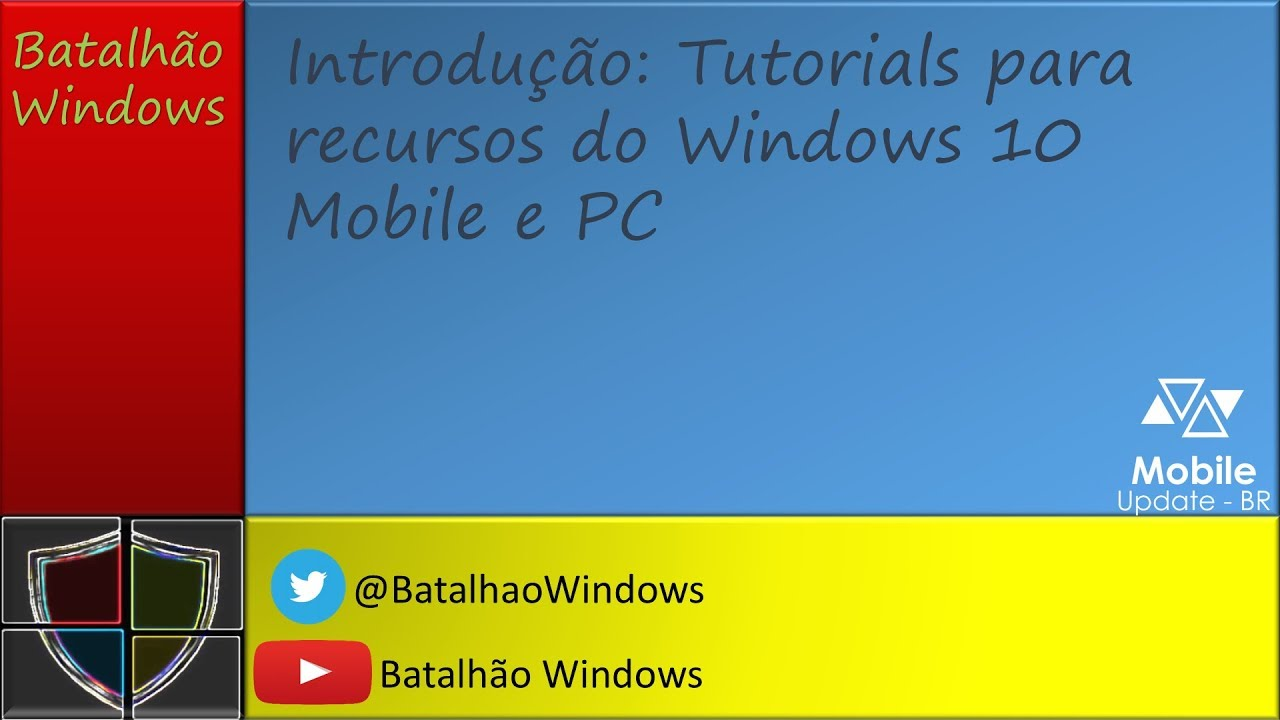 Videos: Tutoriais simples do Windows 10 (Mobile e PC)