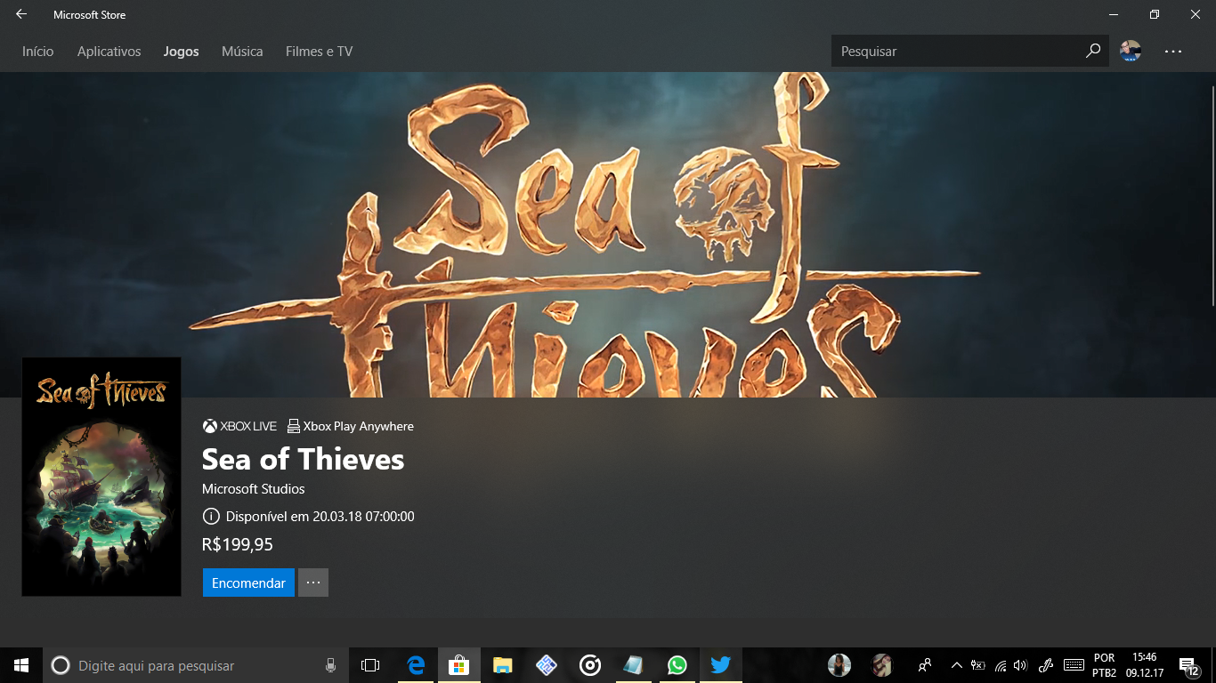 Sea Of Thieves: Pre venda já disponivel!