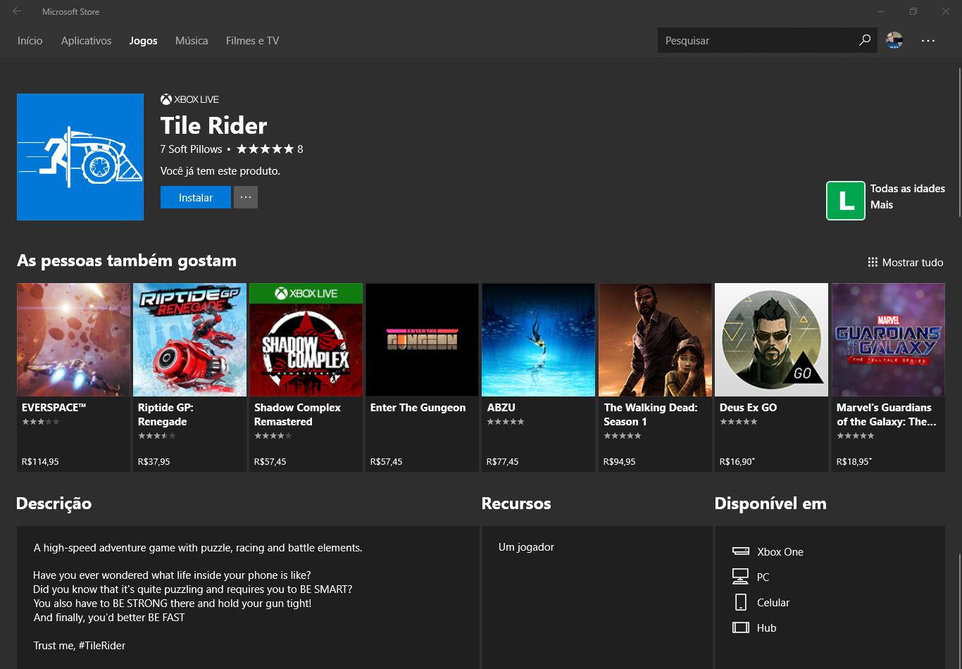 Tile Rider: Grátis por tempo limitado!