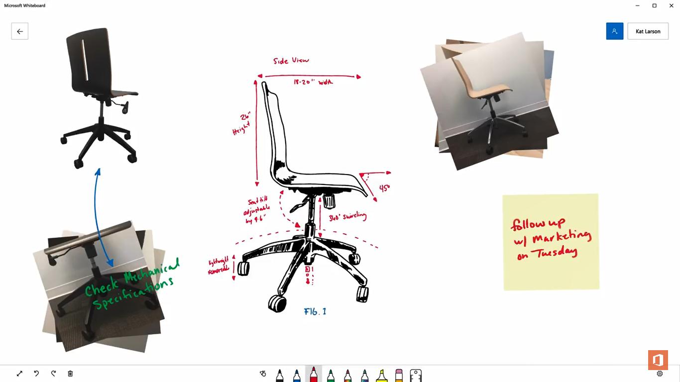 Microsoft Whiteboard: Versão Preview está disponível para Windows 10