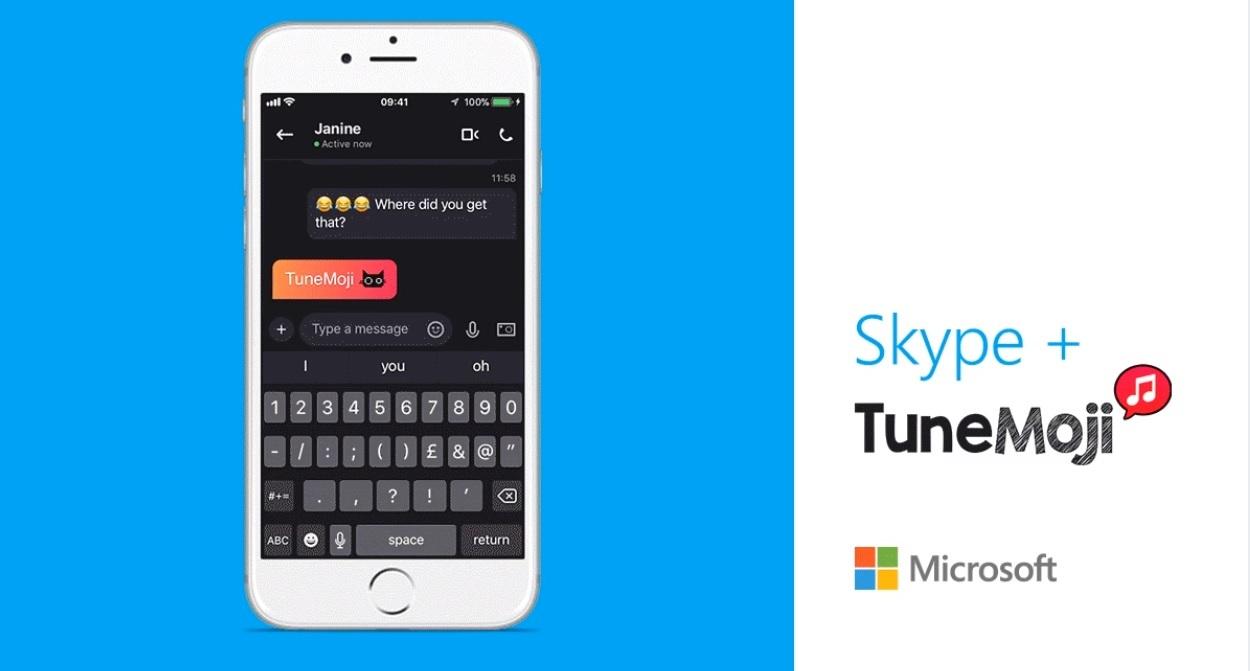 TuneMoji: Disponível no Skype para celular