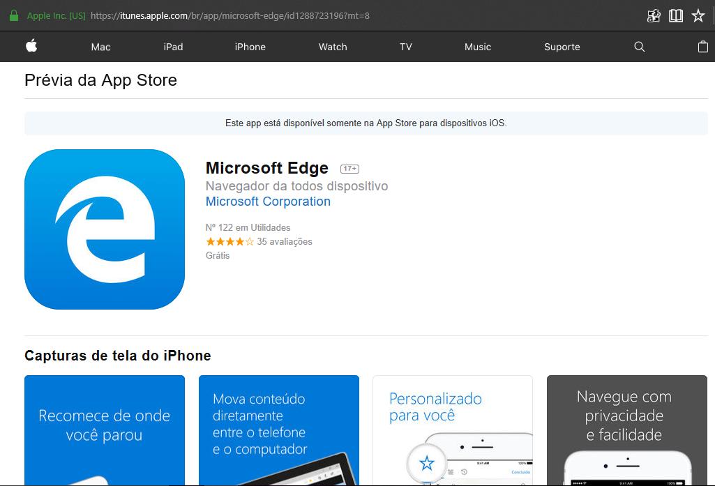Microsoft Edge: Ipad é o próximo alvo