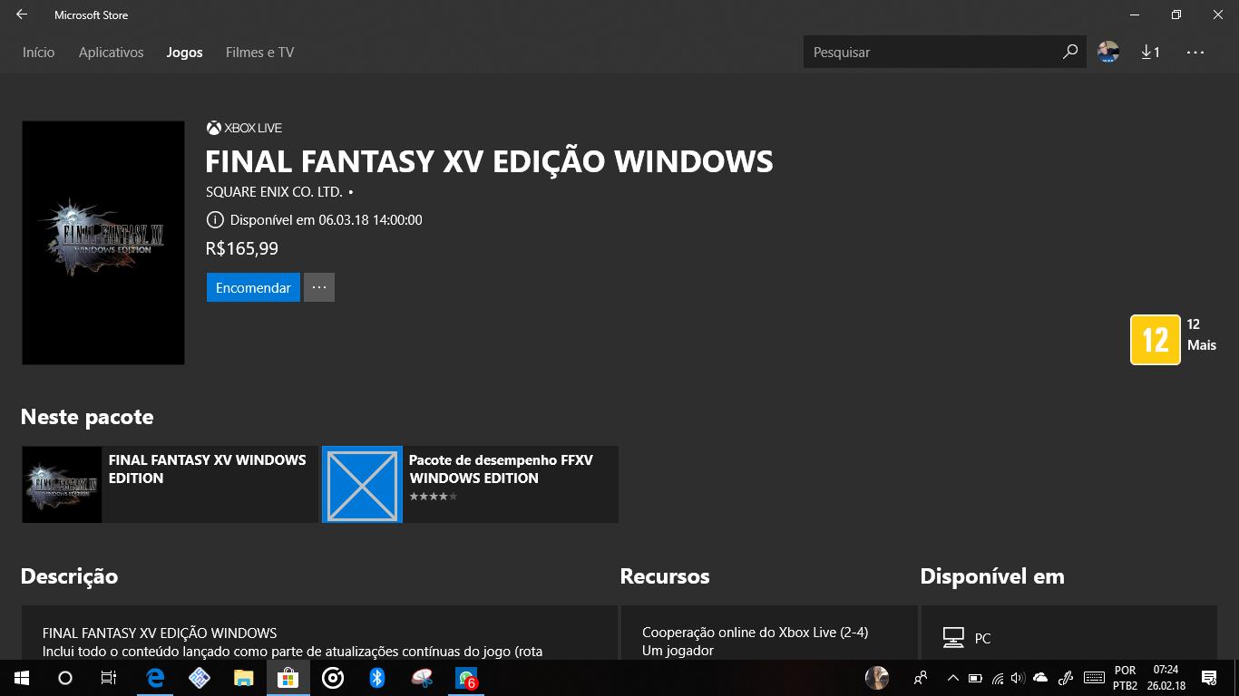 Final Fantasy XV: Demo está disponível porém requer um processador Intel i5 ou superior