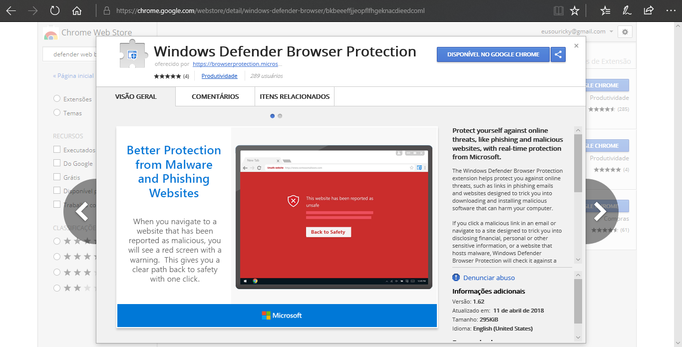 Windows Defender Browser Protection: Disponibilizado para o Google Chrome