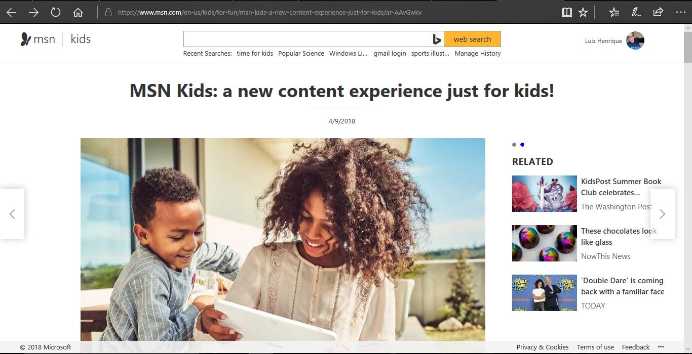 MSN Kids: Seu novo portal de notícia para crianças