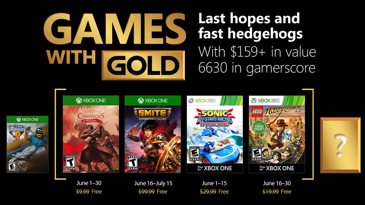 Games With Gold: Confira os jogos desse mês