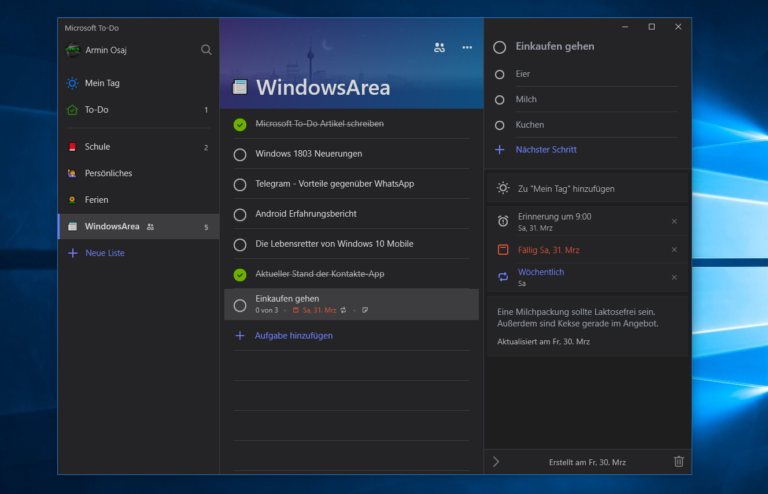 Microsoft To Do: Estaria a Microsoft trabalhando no Dark Theme para o aplicativo?