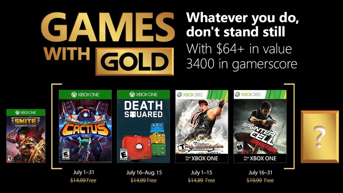 Games With Gold: Confira a seguir os jogos do mês de Julho