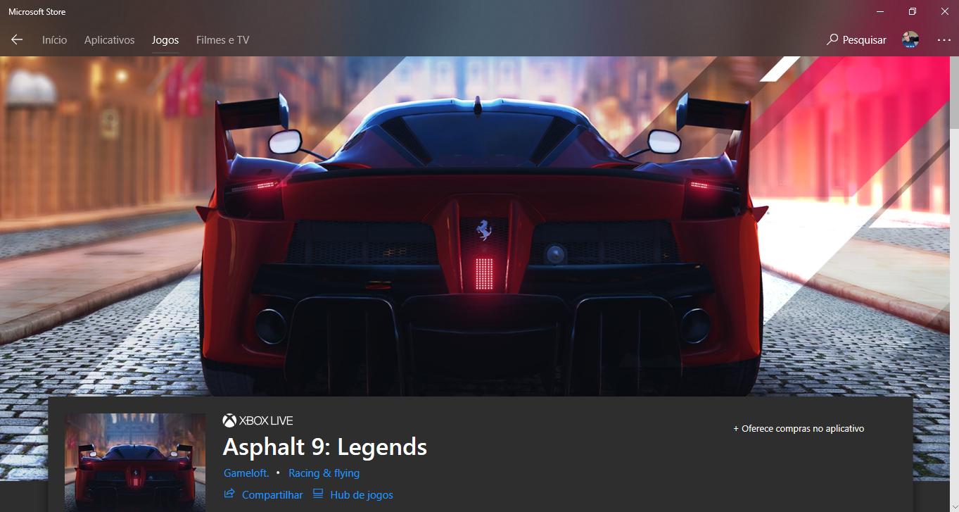 Asphalt 9 Legends: Já disponível para download na Microsoft Store em alguns países