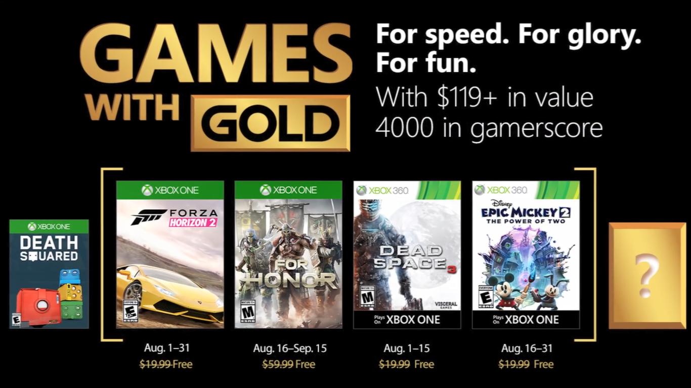 Games With Gold: Saibam os jogos do mês de agosto!