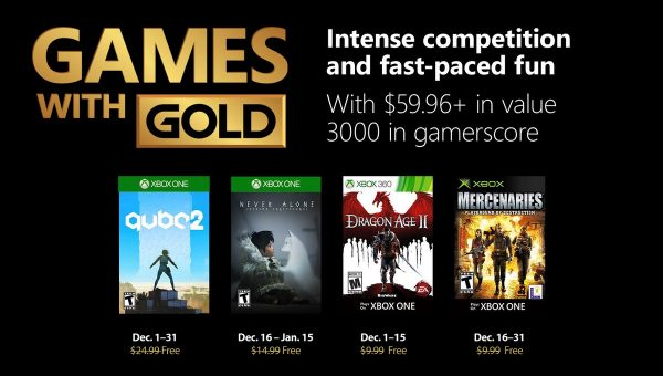 Games With Gold: Saibam os jogos do mês de Dezembro!