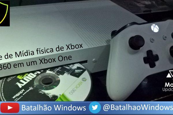 Curiosidade: Midia Fisica de Xbox 360 funciona no Xbox One?